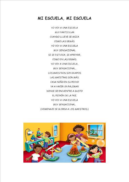 Poesia a mi colegio para primaria - Imagui