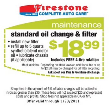 18 99 Oil Change Coupon Firestone Coupons Ritz Crackers