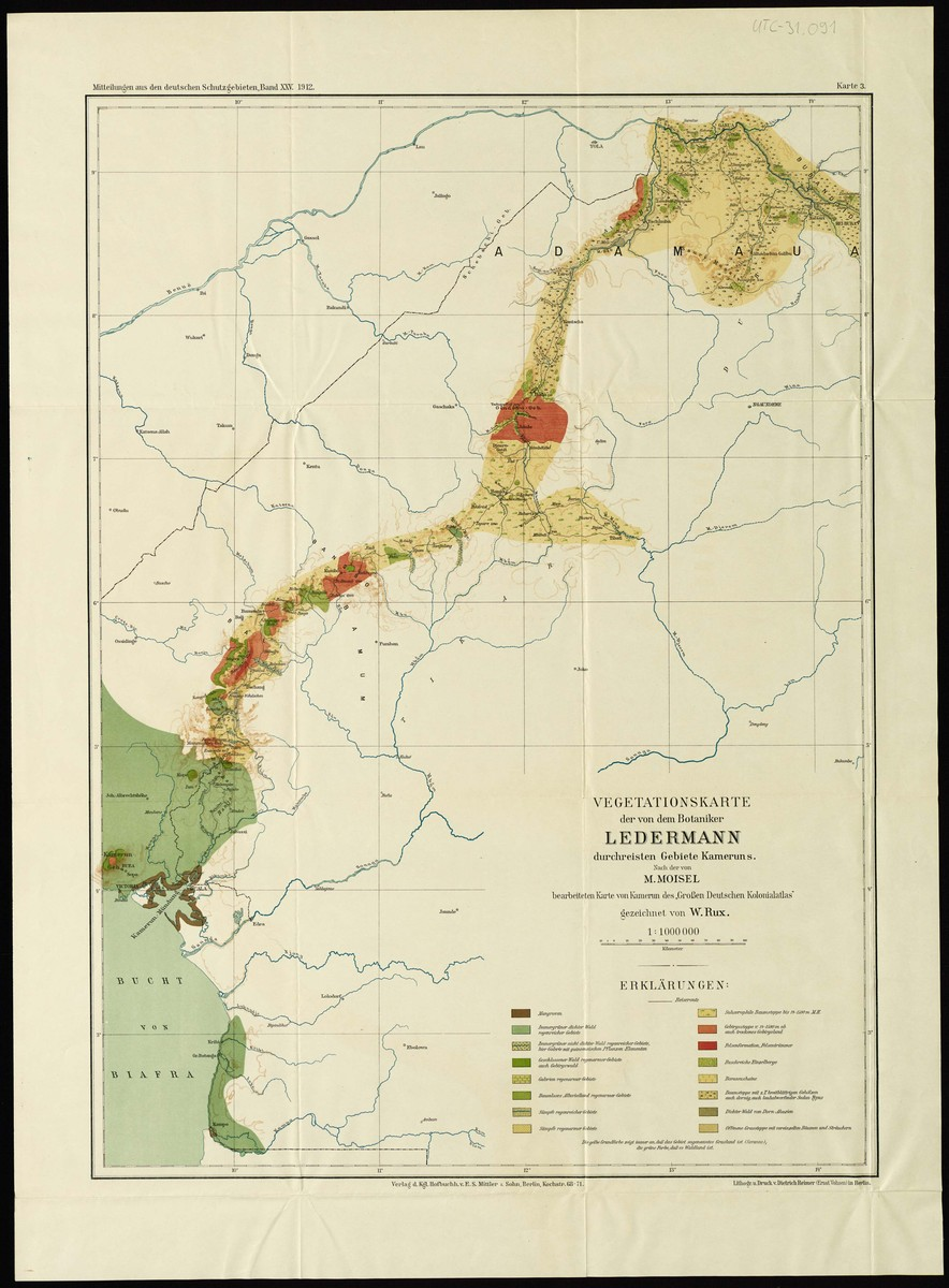 Vegetation map of those parts of cameroon that the botanist ...