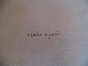 Ex-libris manuscrito: P. Varadier de S. Andiol
