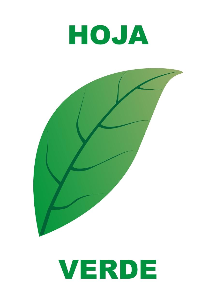 Dibujos para colorear y trazar - Color verde hoja ...