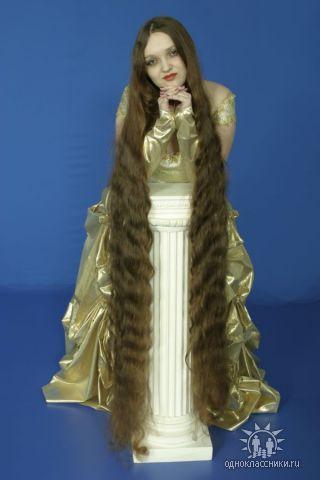 photo very Long hair female model girl, hair replacement