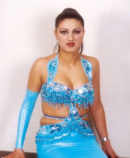 Arab Model Nina Alrahbani aqua dress
