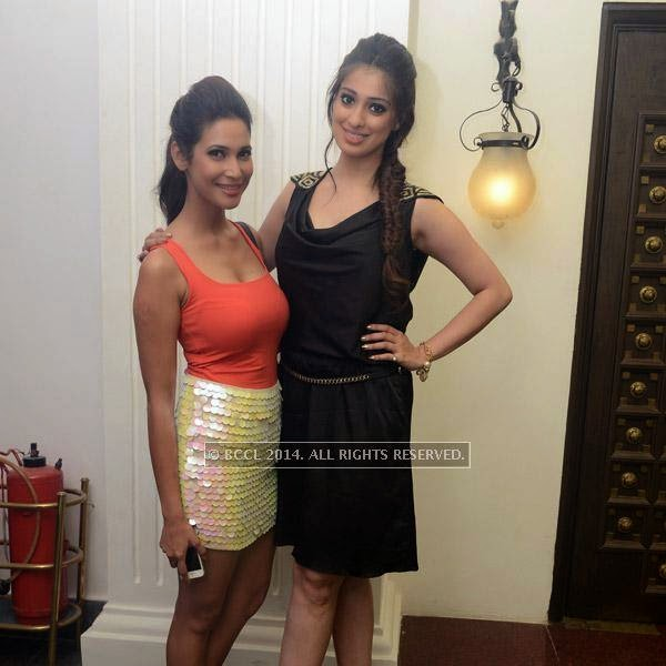 Prachi Mishra and Raai Laxmi attend the 12th anniversary party of Dublin, held at Sheraton Park and Towers.