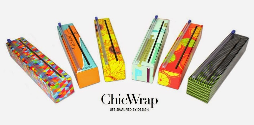 Six Chic Wrap plastic wrap boxes of various design