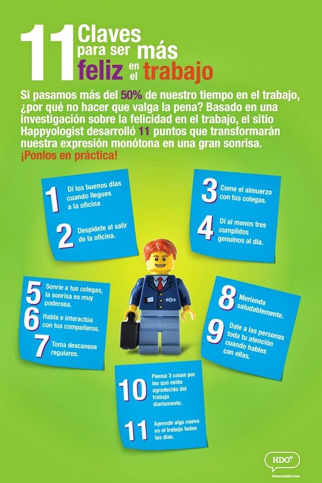 11 Claves para ser más feliz en tu trabajo