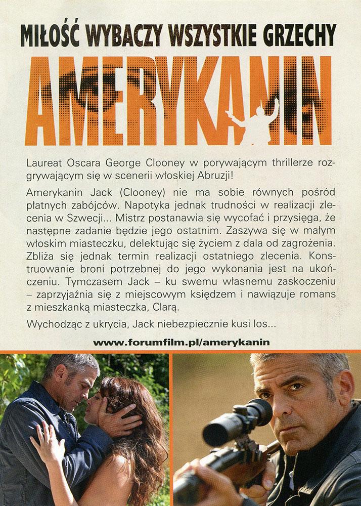 Ulotka filmu 'Amerykanin (tył)'