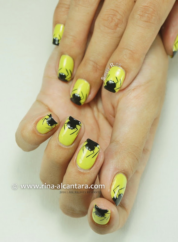 Itsy Bitsy and Hairy Spiders Nail Art