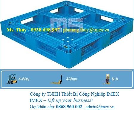 Pallet nhựa N4-1111LA nhập khẩu Malaysia