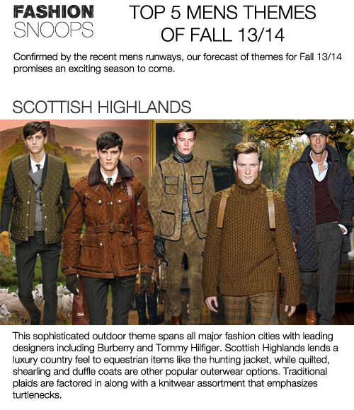 Men's Fall/Winter 2016-14 Top Trends, Fashion Snoops