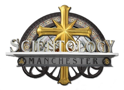 Photo of Manchester Scientology big ass logo