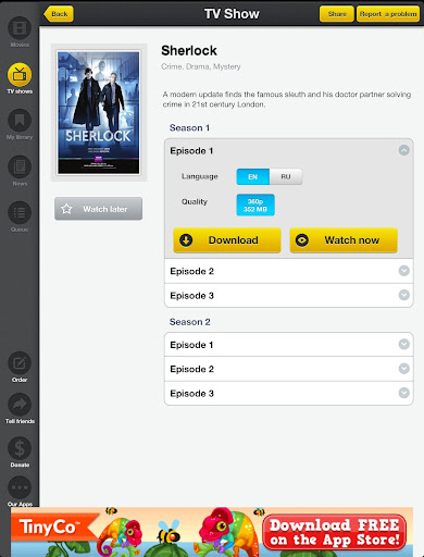 Movie Box – A Free Alternative to Netflix for your iPhone