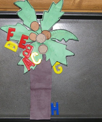 Magnetic Coconut tree and Alphabets play