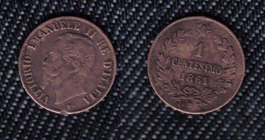 Mi colección de monedas italianas. 1%20centesimo%201861%20M