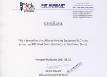 PBT Certificate