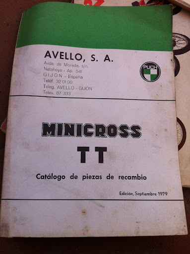 Puch MiniCross Super - Portada Del Catálogo De Piezas De Recambio IMG_1384