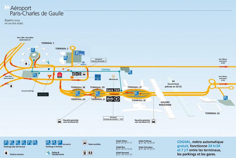 план аэропорта Шарль де Голль Париж