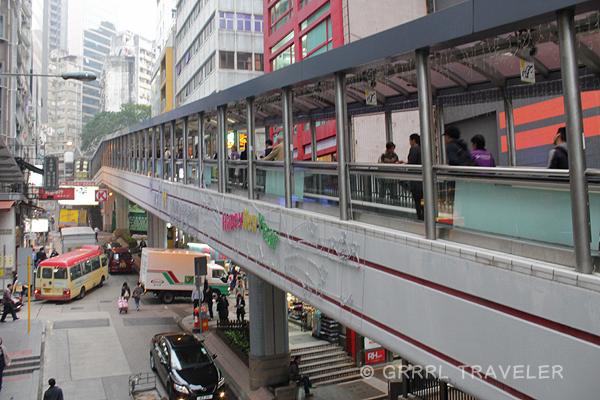 soho walkway, soho escalator hong kong, hong kong's sky walkwaysd, hong kong top attractions
