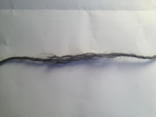 Two spliced strands of on on top of each other