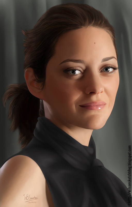 Digital Painting of Marion Cotillard.