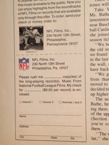 Classic Tv Sports Inside The Pages 1976 Pro Nfl Game