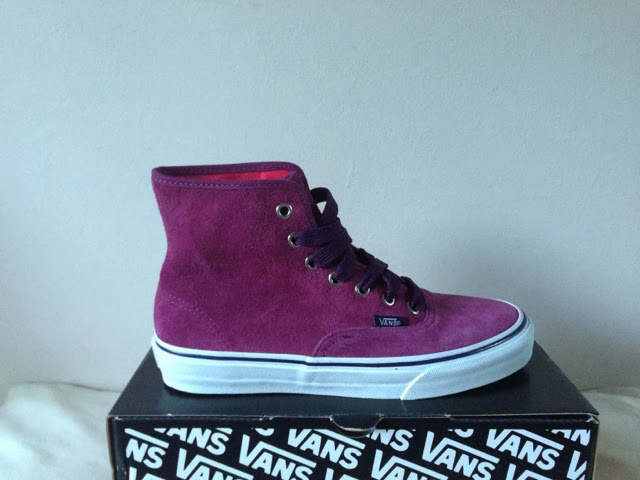 Sammi Jackson - Purple Suede High Top Vans