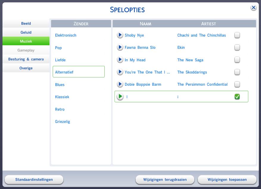 De Sims 4 eigen muziek