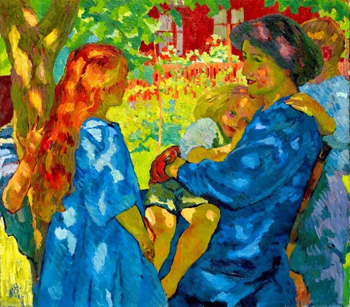 Giovanni Giacometti - Family Portrait Under the Elder Tree