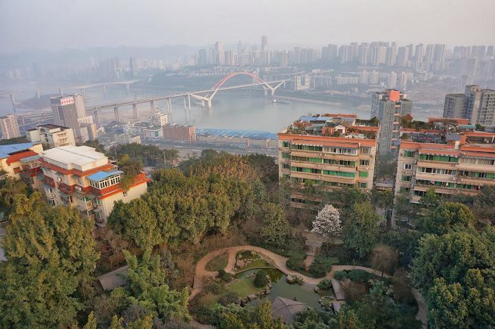 Vistas desde Eling park a Chaotianmen bridge