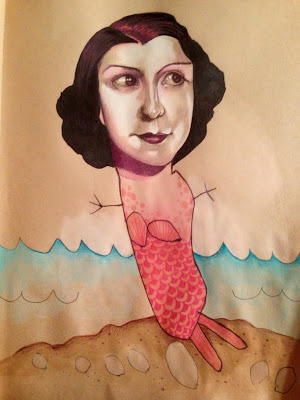 Mermaid Print by Mica Angela Hendricks and Daughter