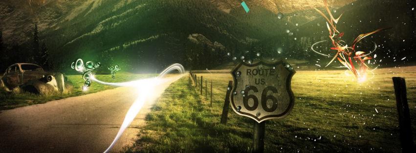 Mountains route 66 facebook cover