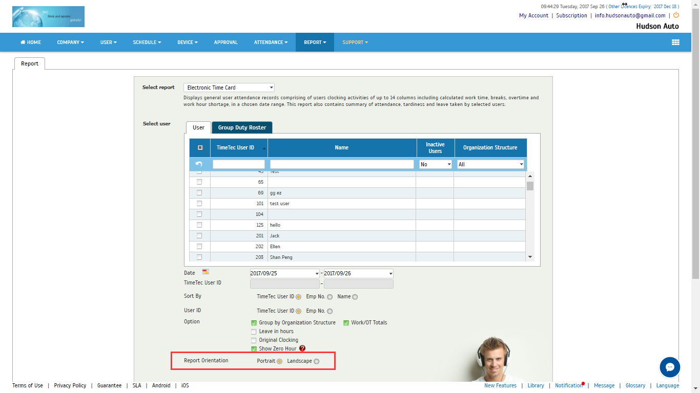 remark can also be previewed in etc reports now only in landscape orientation users can manually input the remark max 250 characters in the attendance - Electronic Time Card