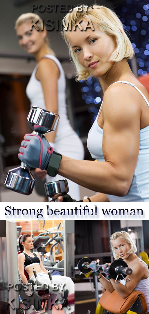 Stock Photo: Strong beautiful woman
