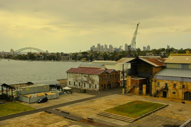 Looking to Sydney from Cockatoo Island