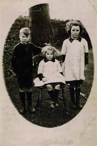 Fred, Dorothy and Edith. Burton School 1920's