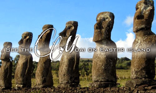 See the Moai on Easter Island