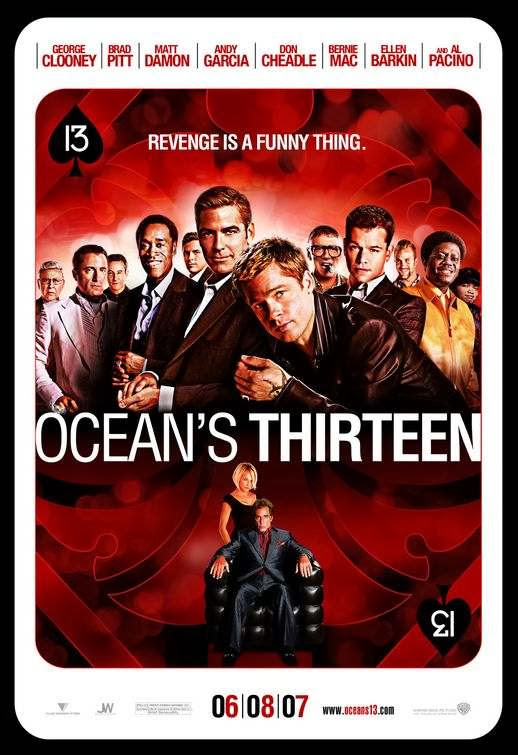Poster Of Ocean's Thirteen (2007) Full Movie Hindi Dubbed Free Download Watch Online At Alldownloads4u.Com