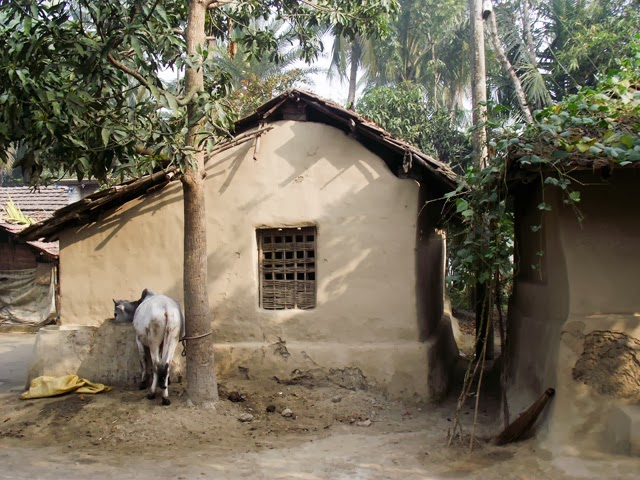 clay houses in Bangladesh village