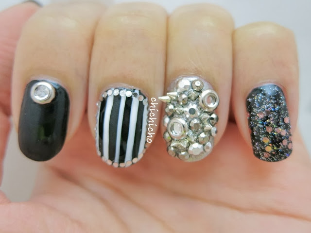 Anti-Valentine's Day Nail Art (Born Pretty Store Review)
