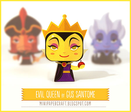Mini Evil Queen Papercraft