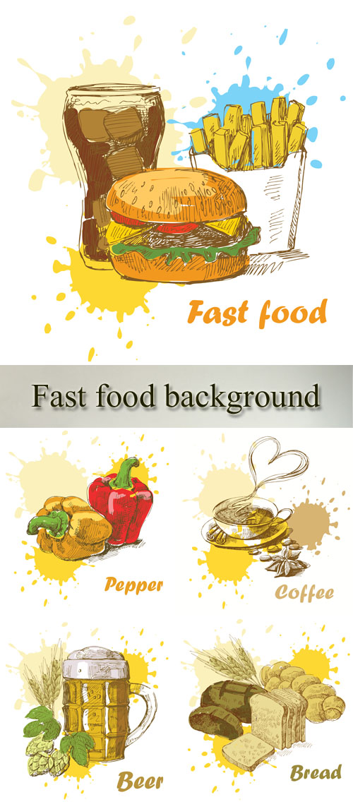 Stock: Fast food background 3