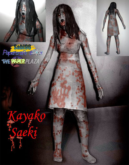 The Grudge Kayako Saeki Paper Model