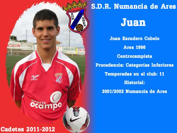 ADR Numancia de Ares. Cadetes 2011-2012. JUAN.