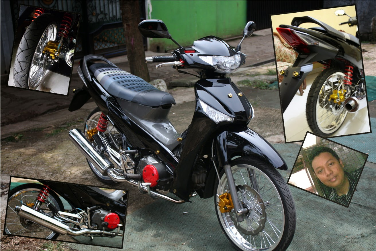 Modifikasi Supra X 125 Striping Standar