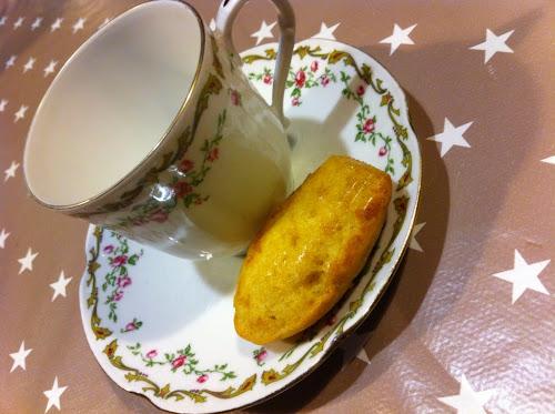 Madeleine citron miel
