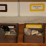 Our Montessori preschool classrooms are all about touching and feeling and exploring. Here, a teacher at the Lake campus has put together a set of igneous and sedimentary rock for children to explore and identify.