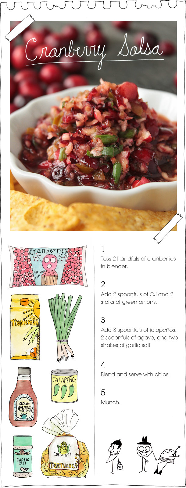 The Vegan Stoner's Cranberry Salsa