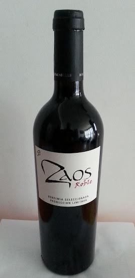 Zaos Roble 2010,  Vino de la Tierra Ribera del Guadiana