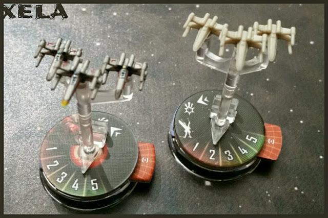 X-Wings del Star Wars Armada pintados por Xela y no pintados