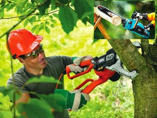 Электрическая пила для обрезки деревьев